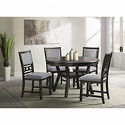 Stafford 5-Pc. Standard Height Dining Set - Walnut