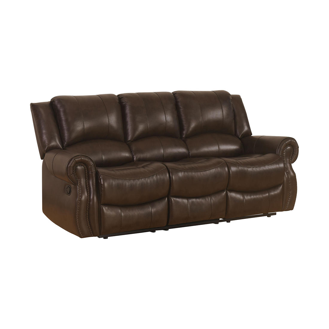 Abbyson Living Covington Faux Leather Reclining Sofa - Brown
