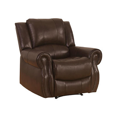Abbyson Living Calabasas Faux Leather Recliner - Brown