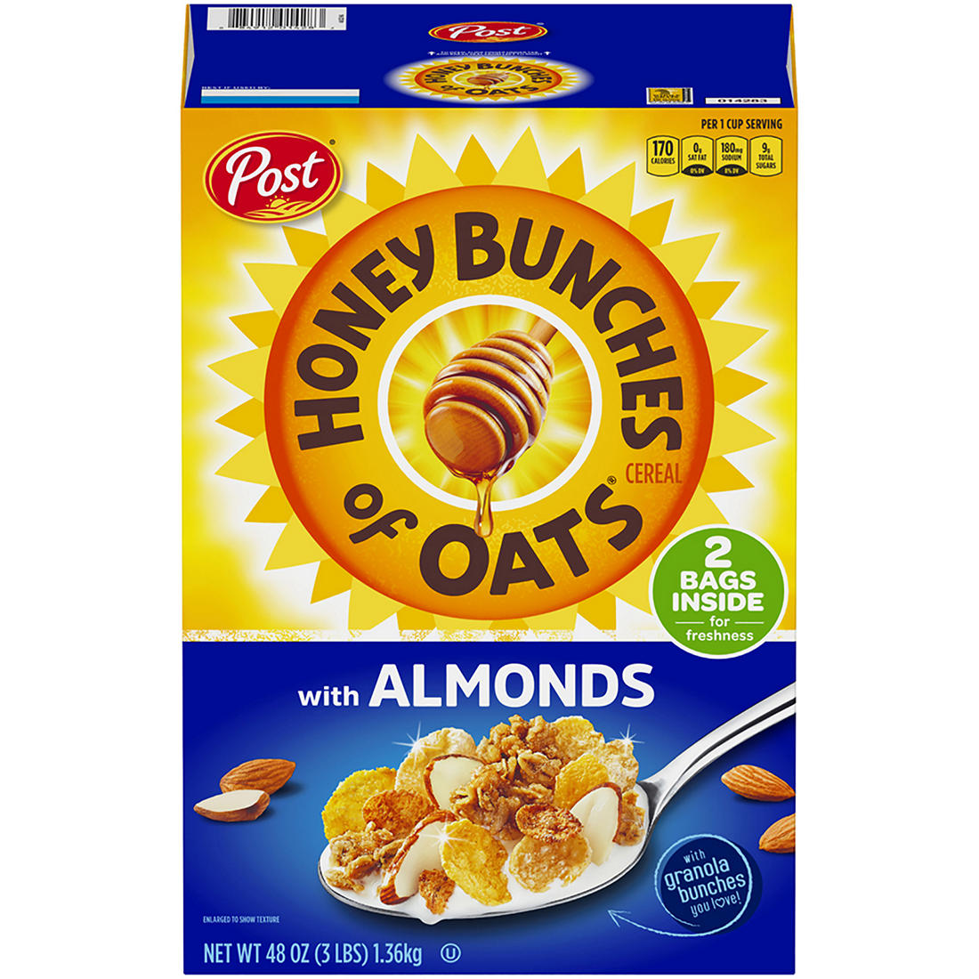 Post Honey Bunches of Oats with Almonds, 48 oz