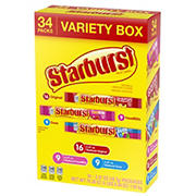 Starburst Fruit Chews Variety Pack, 34 ct.