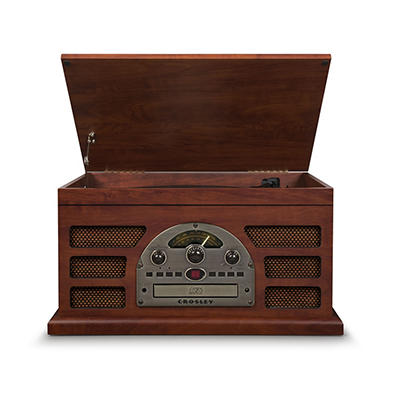 Crosley Rochester 5-in-1 Entertainment Center with Bluetooth - Paprika