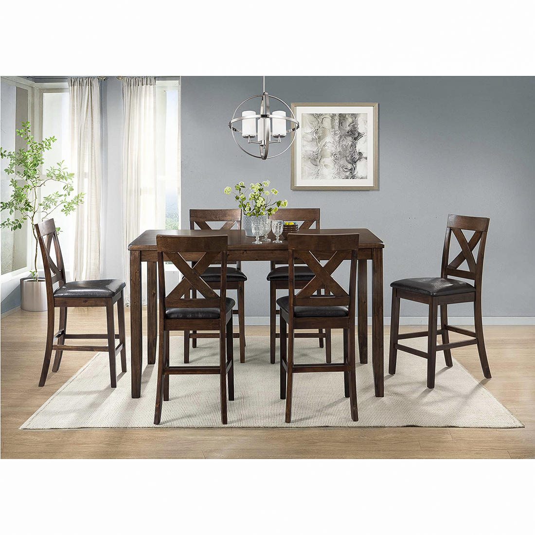 7 Piece Pub Height Dining Sets