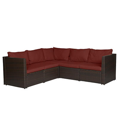 Handy Living Aldrich Indoor/Outdoor 5-Pc. Sectional Set - Dark Brown
