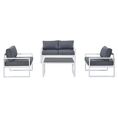 Handy Living Buenavista Indoor/Outdoor 4-Pc. Conversation Set - Gray