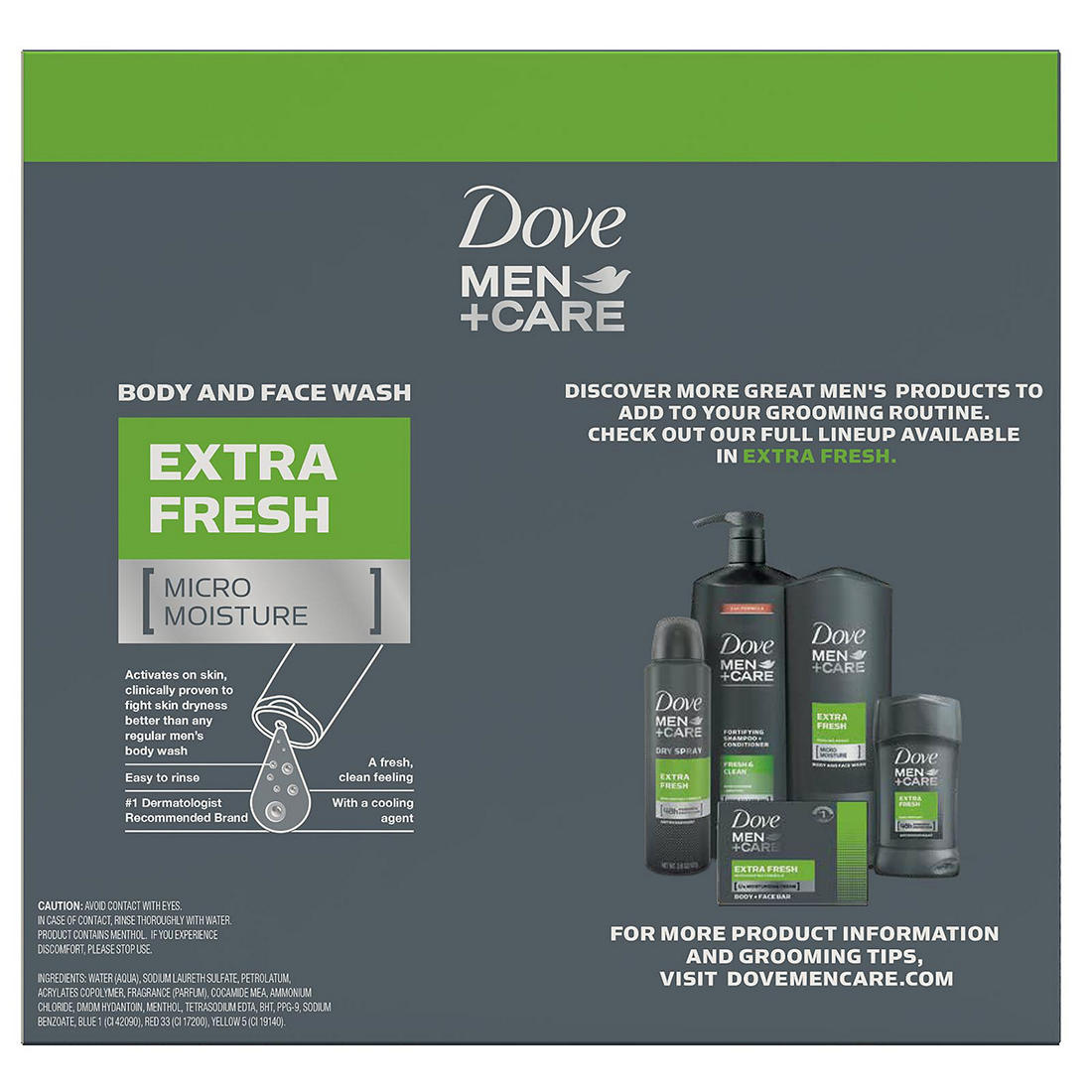 Dove Men Care Extra Fresh Body Wash 3 Pk 18 Oz Bjs Wholesale Club