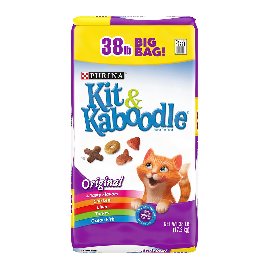Purina Kit & Kaboodle Original Cat Food, 38 lbs.