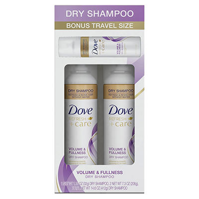 Dove Volume & Fullness Dry Shampoo, 2 pk./7.3 oz. with Bonus 1.15 oz.