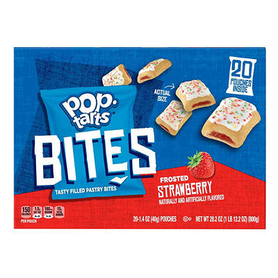 Pop-Tarts Frosted Strawberry Filled Pastry Bites, 20 ct./1.4 oz.