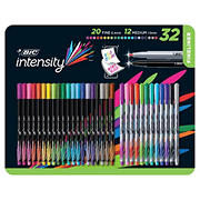 BIC Intensity Fineliner Combo Pack, Medium/Fine Tips, Assorted Colors, 32 ct.