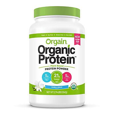 Orgain Organic Protein Plant Based Protein Powder, Vanilla Bean, 2.74
