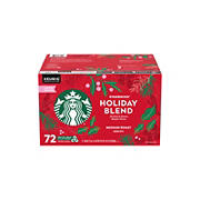 Starbucks Holiday Blend K-cups Coffee, 72 ct.