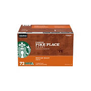 Starbucks Pike Place Roast Medium Roast Single Cup Coffee for Keurig Brewers K-Cup Pods, 72 ct.