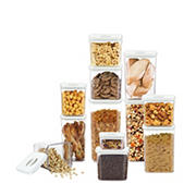 NeoFlam 12-Pc. Smart Seal Dry Food Pantry Canister Set