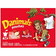 Danimals Squeezables Strawberry and Strawberry-Banana Variety Pack, 12 ct.