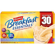 Carnation Breakfast Essentials Classic French Vanilla, 30 pk./1.26 oz.