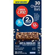 Fiber One Oats and Chocolate Chewy Bars, 30 ct.