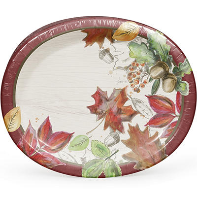 ArtStyle Color My Fall Oval Plates, 35 ct.