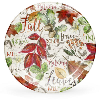 "ArtStyle Color My Fall 10.25"" Plates, 40 ct."