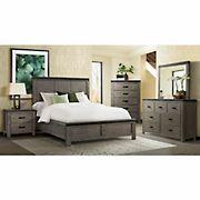 Sullivan 5-Pc. Queen Size Panel Bedroom Set - Gray