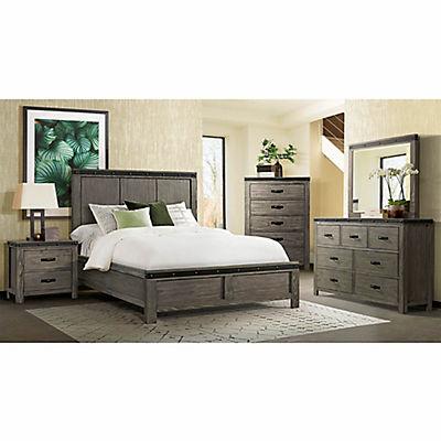 Sullivan 5 Piece Queen Size Panel Bedroom Set