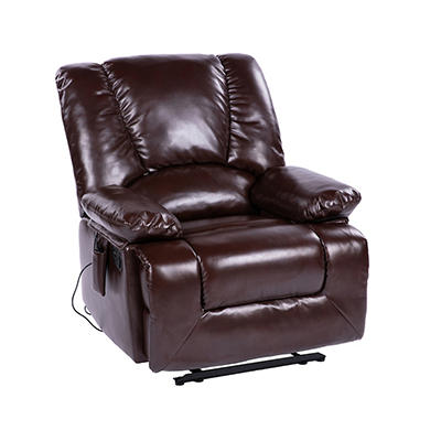 Lifesmart Faux Leather Recliner with Heat and Massage