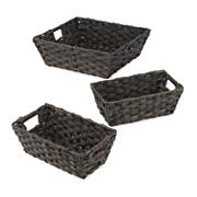 Whitmor 3-Pc. Split Rattique 3-Pc. Tote Set - Driftwood