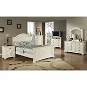 Chadwick 5-Pc. Queen Size Panel Bedroom Set - Cottage White