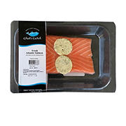 Wellsley Farms Atlantic Salmon Portion with Garlic Herb Butter, 2.5 oz.