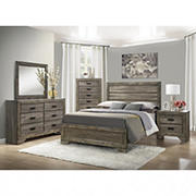 Thompson 5-Pc. Queen Size Panel Bedroom Set - Gray Oak