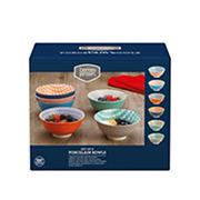 Berkley Jensen Printed Porcelain Bowl Set, 6 pk.