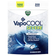 Vicks VapoCool Severe Medicated Drops, 200 ct.