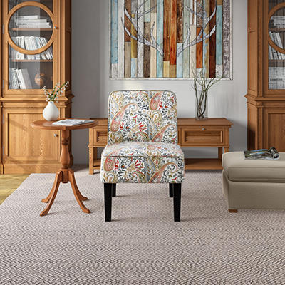 Handy Living Brimley Armless Chair - Multi Coral Paisley