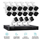 Defender 16-Channel 16-Camera 4K Security System with 4TB HDD DVR