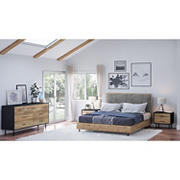 Abbyson Living Franklin 4-Pc. Queen Size Bedroom Set - Brown