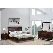 Abbyson Living Anson 5-Pc. Queen Size Bedroom Set - Brown