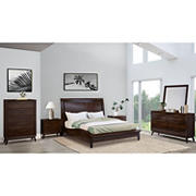 Abbyson Living Anson 6-Pc. King Size Bedroom Set - Brown