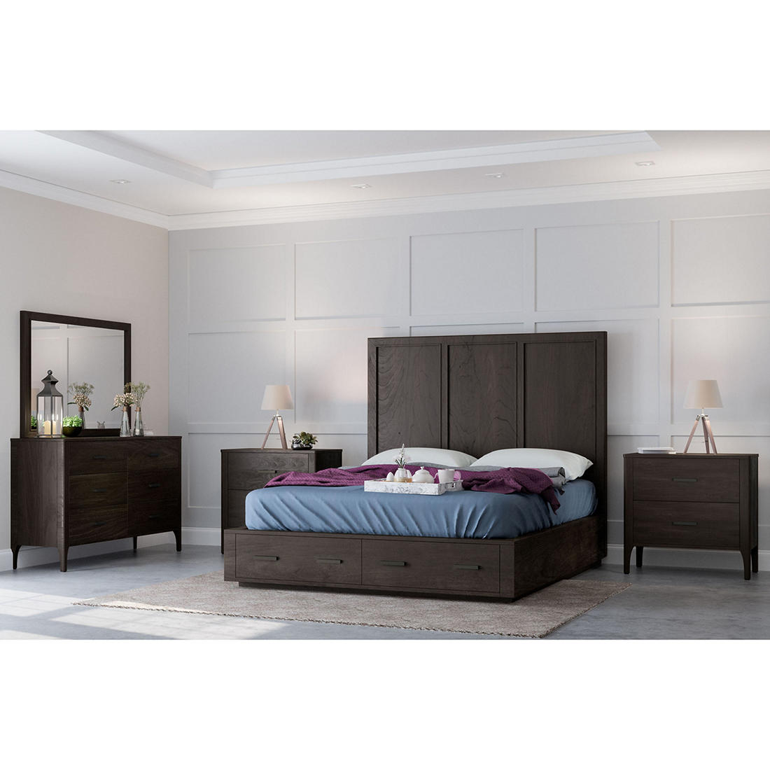 Abbyson Living Donna 5-Pc. King Size Bedroom Set - Brown