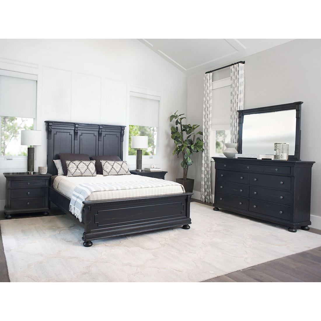 Abbyson Hartford Queen Size Bedroom Set 5pc Bjs Wholesale Club