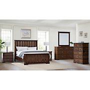 Abbyson Living Knightly Vintage Oak 6-Pc. King Size Bedroom Set - Brown
