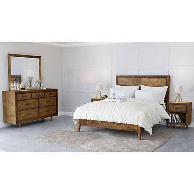 Abbyson Living Regina Mid Century 5-Pc. Queen Size Bedroom Set - Brown