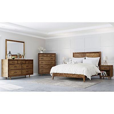 Abbyson Living Regina Mid Century 6-Pc. Queen Size Bedroom Set - Brown