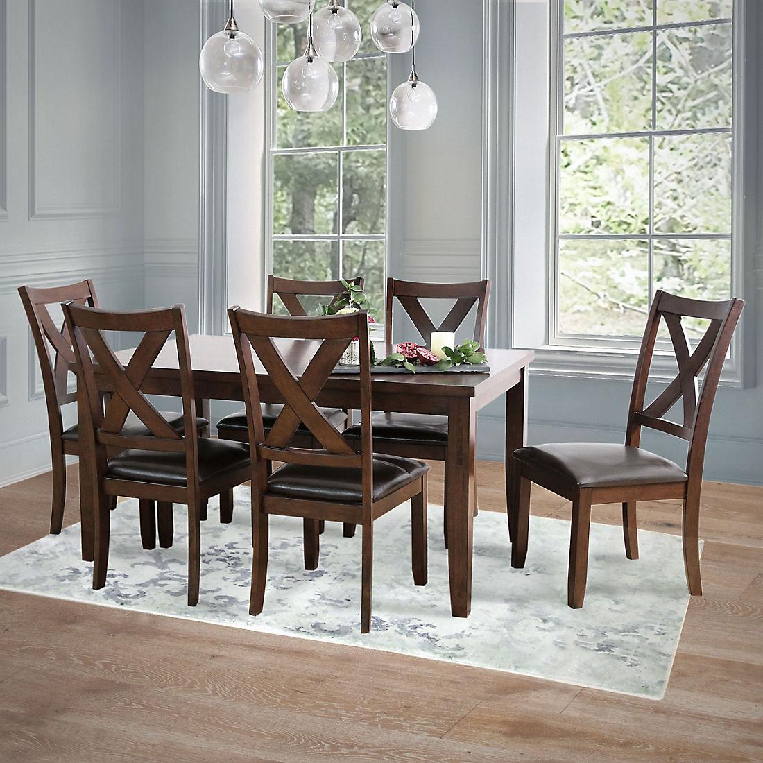 Stupendous Abbyson Living Killian 7 Pc Dining Set Brown Ibusinesslaw Wood Chair Design Ideas Ibusinesslaworg