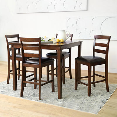 Abbyson Living Darcie 5-Pc. Counter Height Dining Set - Brown