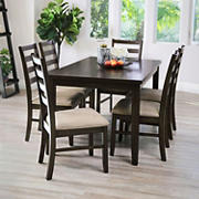 Abbyson Living Charlie 7-Pc. Dining Set - Brown