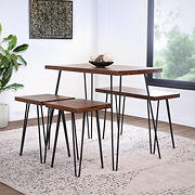 Abbyson Living Tallulah Industrial 3-Pc. Dining Set - Natural