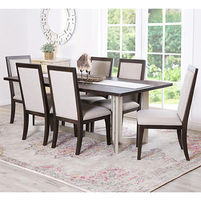 Abbyson Living Donna 7-Pc. Dining Set - Brown