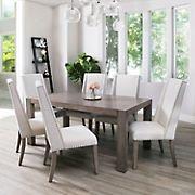 Abbyson Living Leona Acacia 7-Pc. Dining Set - Gray