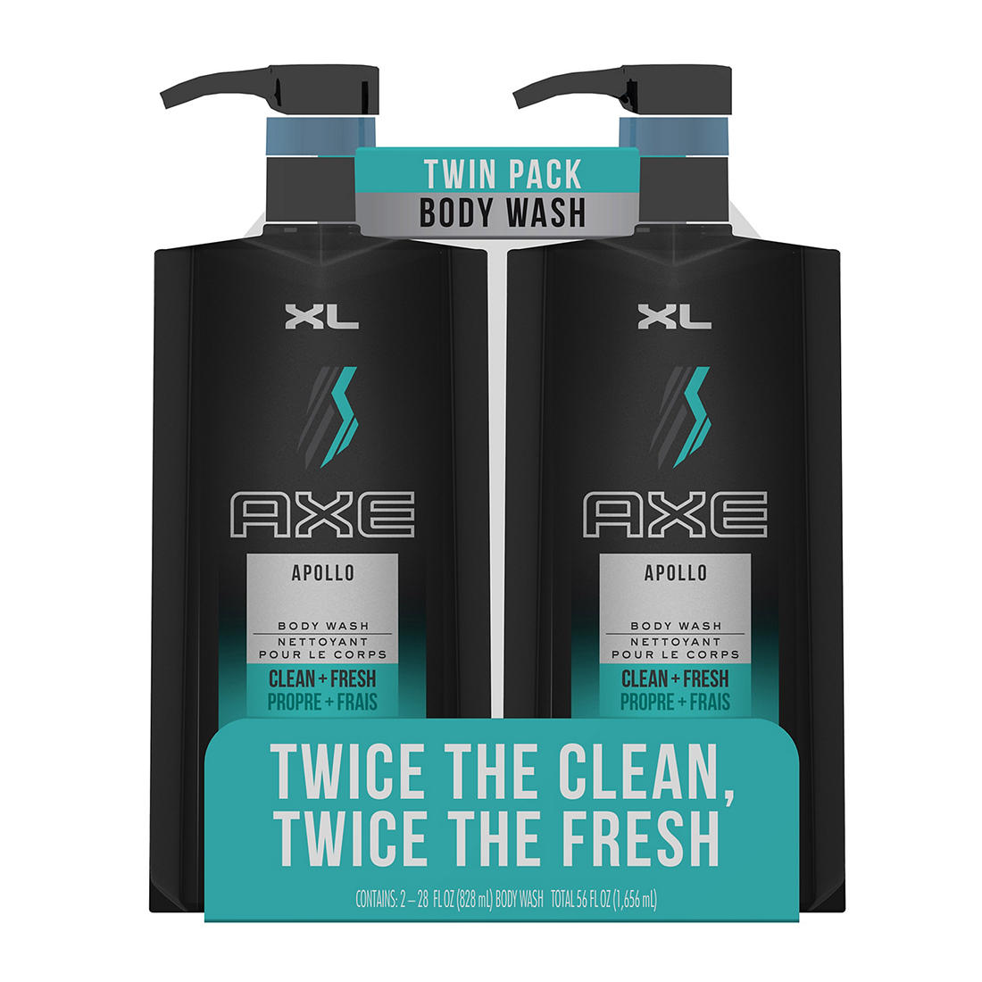 Axe Apollo Body Wash 2 ct / 28 oz