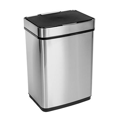 Honey-Can-Do 50L Stainless Steel Trash Can with Motion Sensor and Soft Close